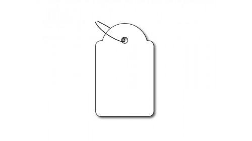 924 Strung Ticket - White Card 22x35mm