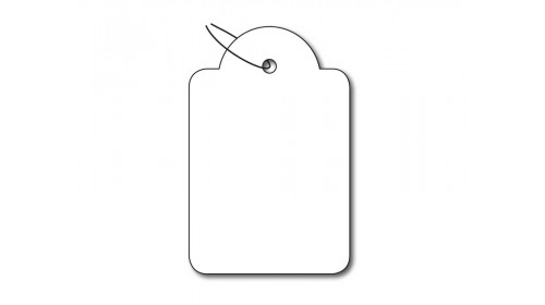925 Strung Ticket - White Card 28x43mm