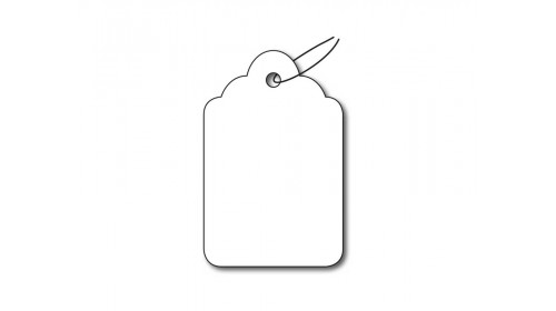 BB37 Strung Ticket - White Card 24x37mm