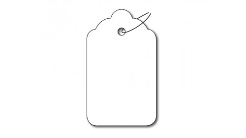 BBB79 Strung Ticket - White Card 26x45mm