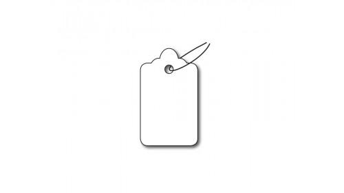 R35 Strung Ticket - White Card 16x27mm
